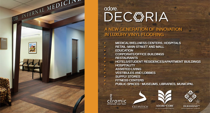 ADORE DECORIA NEW GENERATION COMMERCIAL LUXURY VINYL FLOORING at ACWG